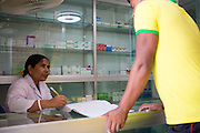 A garment worker visiting the pharmacy at an Epyllion Group garment factory in Bangladesh.