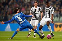Riccardo Saponara Empoli, Paul Pogba Juventus <br /> Torino 02-04-2016 Juventus Stadium Football Calcio Serie A 2015/2016 Juventus - Empoli. Foto Filippo Alfero / Insidefoto