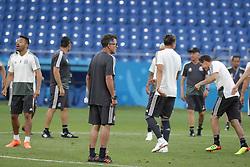 June 22, 2018 - EUM20180622DEP10.JPG.ROSTOV, Rusia, SoccerFutbol-Mundial.- 22 de junio de 2018. Sesión de entrenamiento de la Selección Mexicana de futbol en el Estadio Rostov Arena, previo al partido que tendrán ante su similar de Corea del Sur este sábado, como parte de las actividades de fase de grupos del Mundial de Rusia. Foto: Agencia EL UNIVERSALLuis CortésMAR. (Credit Image: © El Universal via ZUMA Wire)