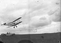 Miss Amy Johnson at Baldonnel. Aircraft in flight.<br /> 09 July 1932. <br /> (Part of the Independent Newspapers Ireland/NLI Collection)