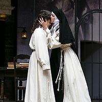 The Heresy of Love by Helen Edmundson;<br /> Directed by John Dove;<br /> Gwyneth Keyworth (as Angelica);<br /> Naomi Frederick (as Juana);<br /> Shakespeare's Globe Theatre, London, UK;<br /> 4th August 2015