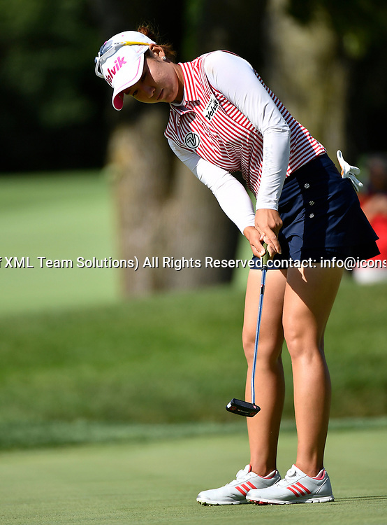 OLYMPIA FIELDS, IL - JULY 01: Chella Choi of South Korea putts the ball to the 18th hole during the third round of the 2017 KMPG PGA Championship at Olympia Fields on July 1, 2017 in Olympia Fields, Illinois. (Photo by Quinn Harris/Icon Sportswire)