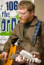 David Lowery (pictured) and Johnny Hickman of Cracker performed in the studios of 106.1FM's The Corner on March 2, 2007 in Charlottesville, VA.