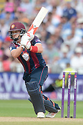 Josh Cobb during the NatWest T20 Blast semi final match between Northamptonshire County Cricket Club and Warwickshire County Cricket Club at Edgbaston, Birmingham, United Kingdom on 29 August 2015. Photo by David Vokes.