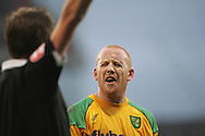 London - Tuesday, January 1st, 2008: Matthew Pattison of Norwich City contests a decision by the assistant referee during the Coca Cola Championship match at Selhurst Park, London. (Pic by Mark Chapman/Focus Images)