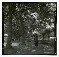 Syklist ved Rhinen. Straight fremkalling. Foto: Svein Ove Ekornesvåg