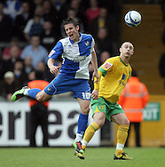 Bristol - Saturday May 1st, 2010: Darryl Duffy (L) of Bristol Rovers in action against Michael Rose of Norwich City during the Coca Cola League One match at The Memorial Stadium, Bristol. (Pic by Mark Chapman/Focus Images)..