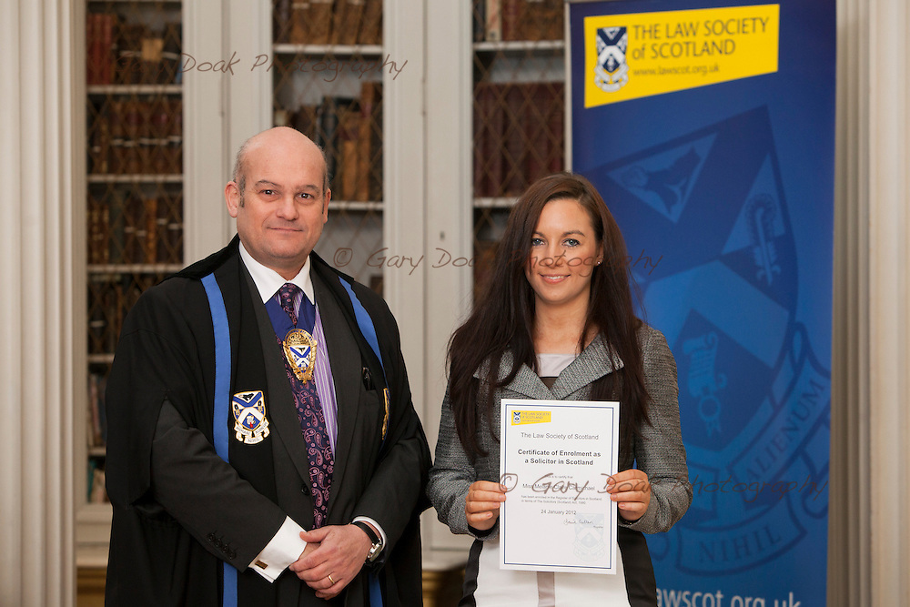 Law Society of Scotland..New Admissions, Oct 2012