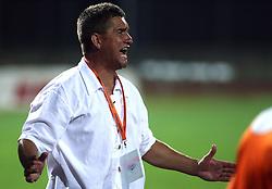 Head coach of Rudar Marjan Pusnik  at 3rd Round of PrvaLiga Telekom Slovenije between NK HIT Gorica vs NK Rudar Velenje, on August 1, 2008, in Nova Gorica, Slovenija. Rudar won the match 2:0. (Photo by Vid Ponikvar / Sportal Images)