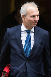 Downing Street, London, October 11th 2016. Government ministers leave the first post-conference cabinet meeting. PICTURED: Leader of the House of Commons David Lidington