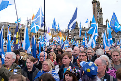 Independence Rally, Glasgow, Saturday 2nd November 2019<br /> <br /> Pictured: Crowd shot<br /> <br /> Alex Todd | Edinburgh Elite media