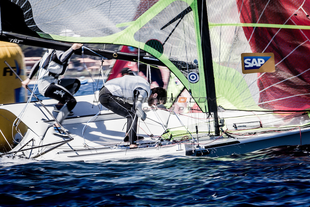 The Sailing World Cup Hy&egrave;res TPM brings together the very best international competitors over a 10 day period and, as such, it is the biggest sailing event in France in terms of participants and international representation. A veritable feast of sailing and a vital part of preparation for the Olympics, the Sailing World Cup is a flagship event attended by all the greatest athletes. SWC in figures:<br /> 10 Olympic series entered, 2 Paralympic series, 60 nations represented, 350 organisers and volunteers, 80 organiser boats, 27 international judges. image &copy;Jesus Renedo/Sailing Energy/World Sailing