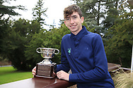 Tom McKibbin winner of the junior Bridgestone Order of Merit pictured at the presentations in the GUI National Academy, Maynooth, Kildare, Ireland. 30/11/2019.<br /> Picture Fran Caffrey / Golffile.ie<br /> <br /> All photo usage must carry mandatory copyright credit (© Golffile   Fran Caffrey)