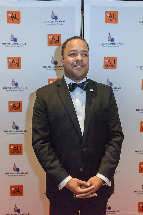 Cassius F. Butts, Region IV Administrator for the United States Small Business Administration, on the red carpet at the fourth annual Muhammad Ali Humanitarian Awards Saturday, Sept. 17, 2016 at the Marriott Hotel in Louisville, Ky. (Photo by Brian Bohannon for the Muhammad Ali Center)