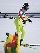 PYEONGCHANG-GUN, SOUTH KOREA - FEBRUARY 15:  Mathilde-Amivi Petitjean of Togo during the women's 10k free technique Cross Country competition at Alpensia Cross-Country Centre on February 15, 2018 in Pyeongchang-gun, South Korea. Photo by Nils Petter Nilsson/Ombrello               ***BETALBILD***