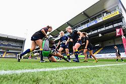 Worcester Valkyries running drills during the pre match warm up - Mandatory by-line: Craig Thomas/JMP - 30/09/2017 - RUGBY - Sixways Stadium - Worcester, England - Worcester Valkyries v Saracens Women - Tyrrells Premier 15s