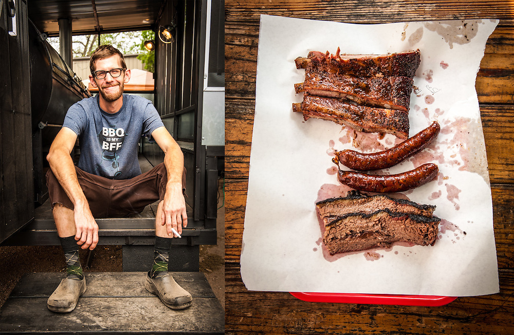John Lewis, pitmaster LA BBQ Cuisine Texicana in Austin, Texas