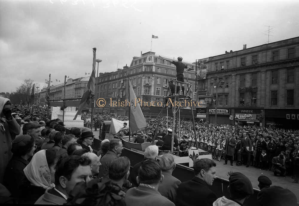 17/3/1966<br /> 3/17/1966<br /> 17 March 1966<br /> <br /> Boy Scouts Display for the St. Patrick's Day Parade