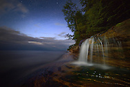 Night sky over Miner's Beach,<br />