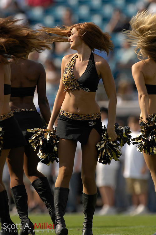 Dec. 9, 2007; Jacksonville, FL, USA;  Jacksonville Jaguars cheerleaders during the Jags game against the  Carolina Panthers at Jacksonville Municipal Stadium.                        ©2007 Scott A. Miller..©2007 Scott A. Miller