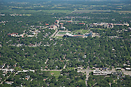 aerial image Kansas University, Lawrence, KS