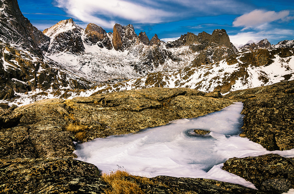 Cirque of the Towers at Wind River Range in Bridger Wilderness.