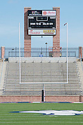 Sponsors names listed on the scoreboard at Allen High School in Allen, Texas on August 24, 2016. &quot;CREDIT: Cooper Neill for The Wall Street Journal&quot;<br /> TX HS Football sponsorships