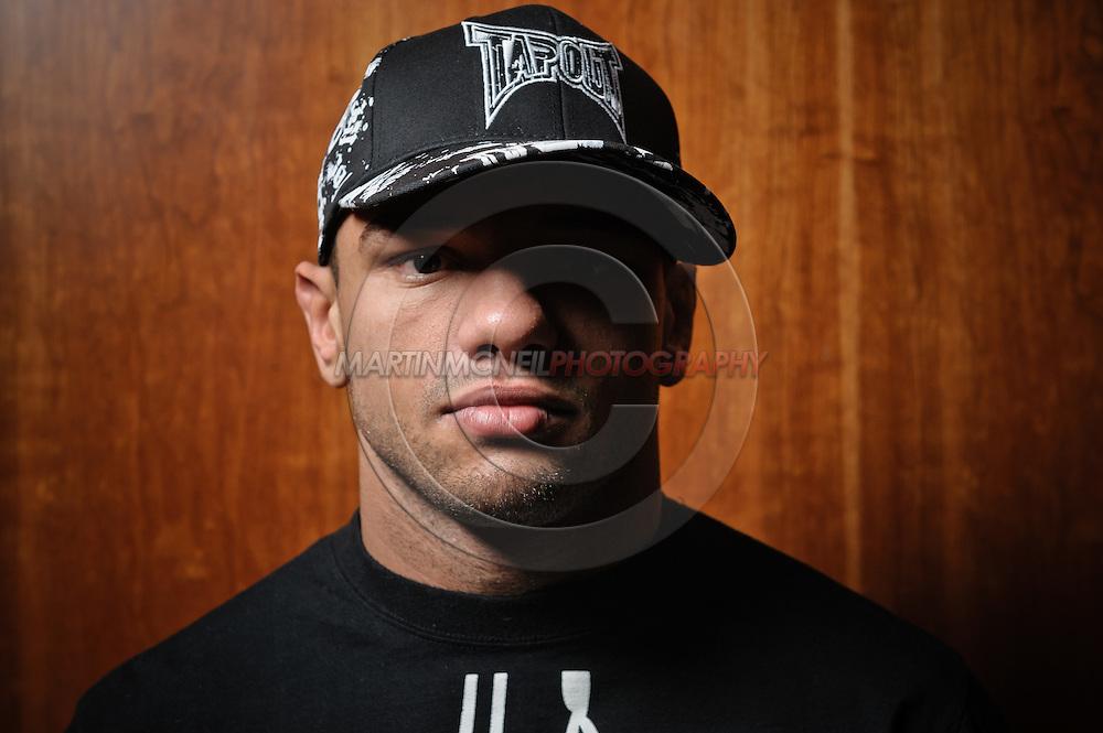 "A portrait of mixed martial arts athlete Thiago ""Pitbull"" Alves"