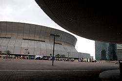 01 Jan 06. New Orleans, Louisiana.  Post Katrina aftermath.<br /> New Year's Day in New Orleans, Louisiana. Louisiana Rebirth interfaith service at the Super dome rings out the old disastrous 2005 and rings in what politicians and locals hope will be a successful 2006.  <br /> Photo; ©Charlie Varley/varleypix.com