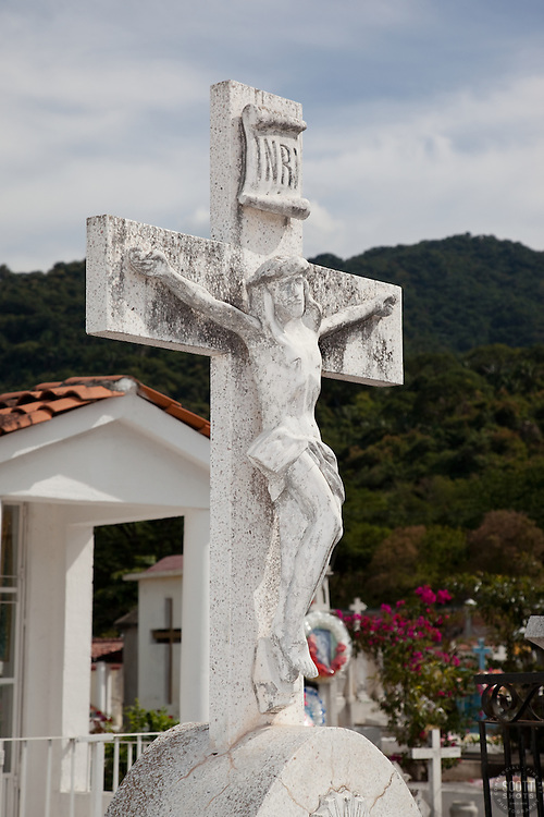 Mexican Cemetery 1 - Photograph taken in El Panteón Cementario, also know as Cementario Viejo or old cemetery, in Puerto Vallarta, Mexico.