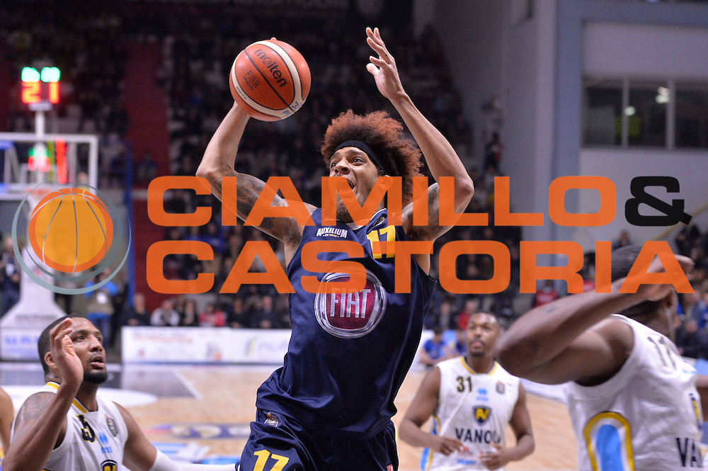 Deron Washington<br /> Vanoli Cremona - Fiat Auxilium Torino<br /> Lega Basket Serie A 2016/2017<br /> Cremona, 12/02/2017<br /> Foto Ciamillo-Castoria