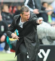 05.03.2011, Commerzbank-Arena, Frankfurt, GER, 1. FBL, Eintracht Frankfurt vs 1.FC Kaiserslautern, im Bild Michael Skibbe (Trainer Frankfurt), EXPA Pictures © 2011, PhotoCredit: EXPA/ nph/  Roth       ****** out of GER / SWE / CRO  / BEL ******