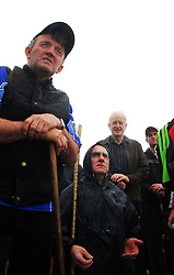 Pilgrims attending mass on top of Croagh Patrick on reek sunday ...Pic Conor McKeown