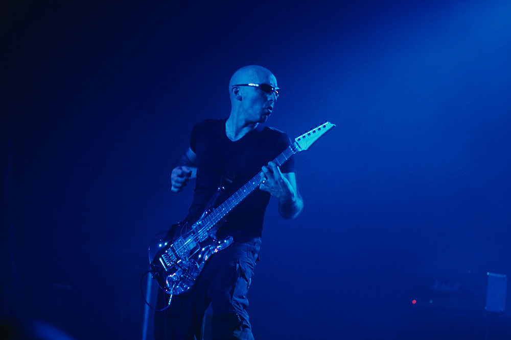 Joe Satriani, rock guitarist, guitar instructor to Steve Vai. He played with Mick Jagger, the G3 Tour, lead guitarist for Deep Purple, now plays with Chickenfoot. Since 1988, Satriani has been using Ibanez JS Series