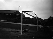 13/05/1960<br /> 05/13/1960<br /> 13 May 1960<br /> Soccer, Schoolboys International: Ireland v England at Tolka Park, Dublin. The game ended in a 2-2 draw. Picture shows The English Keeper, Ker, beaten by a free taken by R. Cray.