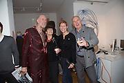 RICHARD STRANGE; VIVIANNE MAYOR; ROBBIE MOFFAT; KELLY DEARSLEY;, Closing party Mayor Gallery, Cork St. London. 17 December 2013