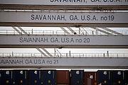 Work begins at the Georgia Ports Authority Garden City Terminal, Thursday, July, 16 2015, in Savannah, Ga.  (GPA Photo/Stephen B. Morton)