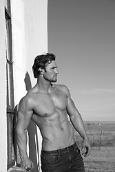 hot shirtless muscular man outdoors