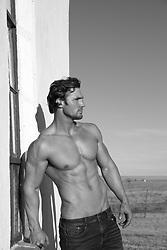 hot shirtless muscular man outdoors