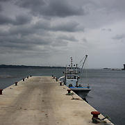 May 29, 2013 - Togura, Japan: View of a docked fishing boat in a pier in Togura, Miyagi prefecture. Since the 2011's tsunami that struck over the coastal areas of Japan, the fishing community of Togura, devastated by the natural disaster, formed a cooperative where all the families work together using the only two remaining boats in the whole village. (Paulo Nunes dos Santos)