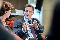13 SEP 2018, BERLIN/GERMANY:<br /> Dr. Volker Treier, stellvertretender Hauptgeschäftsführer Deutscher Industrie- und Handelskammertag, DIHK, Jahreskonferenz SPD Wirtschaftsforum, Maritim proArte Hotel<br /> IMAGE: 20180913-02-209