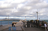 DunLaoghaire Pier Dublin Ireland in the winter