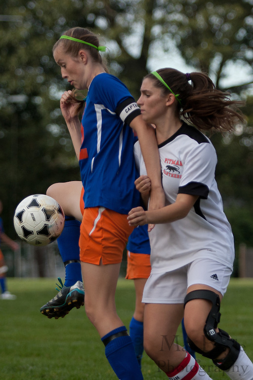 Pitman Girls Soccer Host Woodstown High School at Davis Field in Pitman, NJ on Monday September 26, 2011.