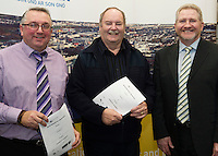 At the launch of the 'Work Experience agreement' between the Galway Chamber of Commerce (GCC) and Galway City Partnership, (GCP) were Mike Haines Youth Advocate GCP, Tommy Flaherty Chairperson (GCP), Peter Salmon, Chief Officer with the local Community Development Committee in Galway City Council  .Photo:Andrew Downes, xposure