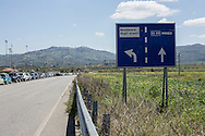 Mineo, Sicily, Italy, April 2015<br /> In the region of Catania, Sicily, lies the biggest center for asylum seekers in Europe, &quot;CARA&quot; (Centro di Accoglienza per Richiedenti Asilo), near the village of Mineo. Over four thousand migrants live in this ancient village built initially to host families of US army soldiers, from a military base nearby. The center is built like a real village with its health center, nursery, administrative buildings, dining hall, stadium ... After what is often a dreadful crossing of the Mediterranean Sea, the survivors have to wait up to fifteen months to obtain a possible residence permit.&copy; Jean-Patrick Di Silvestro