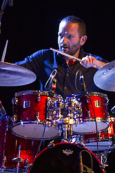 April 26, 2018 - Turin, Italy - Torino, Italy. 26th April 2018. Drummer Eric Groleau during a concert at Torino Jazz Festival (Credit Image: © Marco Destefanis/Pacific Press via ZUMA Wire)