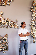Iniala Luxury Residence, sculptures at Aziamendi restuarant by Entang Wiharso, Indonesia