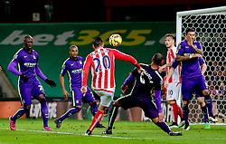 Stoke City's Geoff Cameron hits a shot over the bar - Photo mandatory by-line: Matt McNulty/JMP - Mobile: 07966 386802 - 11/02/2015 - SPORT - Football - Stoke - Britannia Stadium - Stoke City v Manchester City - Barclays Premier League
