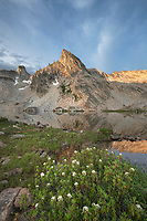 Twin Lakes and Peak 9,923, Alice-Toxaway Lakes Loop Trail Sawtooth Mountains Idaho