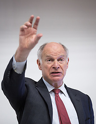 © Licensed to London News Pictures . 08/05/2014 . Manchester , UK . The President of the Supreme Court of the United Kingdom , the Right Hon LORD NEUBERGER ( Master of the Rolls , David Neuberger , Baron Neuberger of Abbotsbury ) , often referred to as the most powerful judge in Great Britain , speaks at Manchester University this evening (Thursday 8th May 2014) . Photo credit : Joel Goodman/LNP